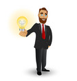 business with a shining lamp a symbol of great vector image
