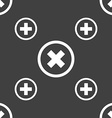 Cancel icon no sign Seamless pattern on a gray vector image