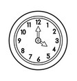 cartoon wall clock for coloring book vector image