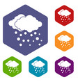 cloud and snow icons set vector image vector image
