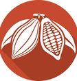 Cocoa Beans Icon vector image vector image