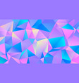 color vibrant triangle polygon bg creative design vector image