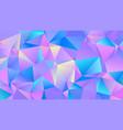 color vibrant triangle polygon bg creative design vector image vector image