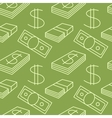 Currency seamless pattern Dollar sign background vector image