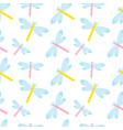Cute dragonfly seamless pattern spring insects