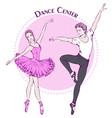 dance line color ballet vector image vector image