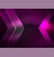 digital technology glowing arrows vector image vector image