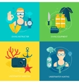 Diving icons composition vector image