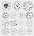 Doodle point wreathframeburstBlack vector image