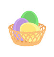 easter eggs spring holiday vector image vector image
