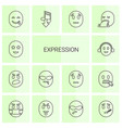 expression icons vector image vector image