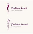 fashion concept logo vector image