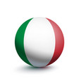 flag of italy in the form of a ball vector image vector image