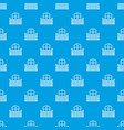 flat balcony pattern seamless blue vector image