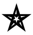 Geometric figure star icon simple style vector image