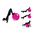 girl is doing sports exercises with fitness vector image vector image