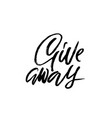 giveaway calligraphy banner for social media vector image