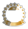 Golden stars in circle vector image