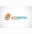 good dental logo template design emblem design vector image