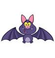 happy vampire bat cartoon character flying vector image vector image