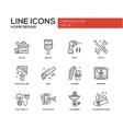 Home repair line design icons set vector image vector image
