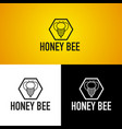 honey bee logo vector image vector image