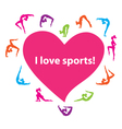 I love sports vector image