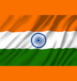 indian national tricolor flag 3d vector image