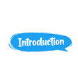 Introduction badge with megaphone icon flat on