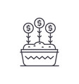 investment growth line icon concept investment vector image vector image