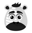 isolated cute avatar a zebra vector image vector image