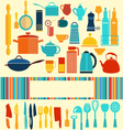 kitchenware set - background vector image vector image