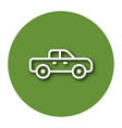 line icon of pickup truck with shadow eps 10 vector image vector image