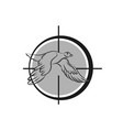 logo for duck hunting decorative rhomb tag with vector image vector image