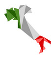 low poly style map of italy vector image vector image