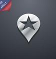 Map pointer award GPS location icon symbol 3D vector image