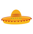 mexican hat on white background vector image