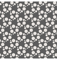 Monochrome geometric seamless pattern with vector image vector image