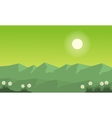 mountain on green backgrounds vector image vector image