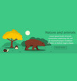 nature and animals banner horizontal concept vector image