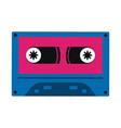 old cassette media pop art colors vector image vector image