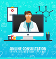 online consultation medical background health vector image