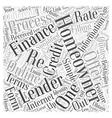 Online Re Financing Word Cloud Concept vector image vector image