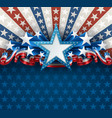 patriotic american background with star vector image vector image