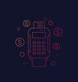 pos terminal payments linear icon vector image