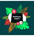 Poster template of tropical party vector image vector image