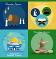 ramadan kareem banners set design vector image