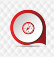 red compass icon geometric background image vector image