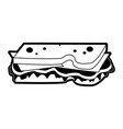 sandwich food icon image vector image vector image