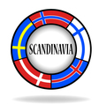 Scandinavian flags in a circle vector image